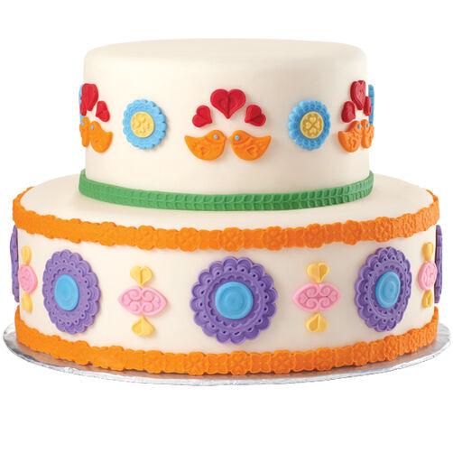 Folk Art Fondant Cake