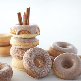 Baked Vegan Banana Cake Donuts