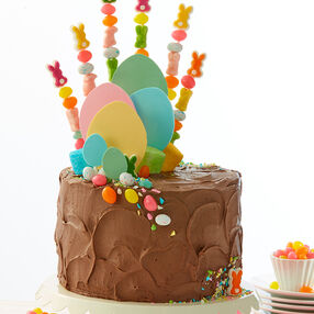 Chocolate Cake with Easter Kabobs