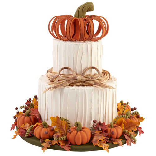 Wilton Cake Ideas For Thanksgiving : Welcome to Our Home Autumn Cake Wilton
