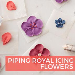 Piping Royal Icing Flowers