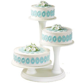Towering Medallion Trio Cake