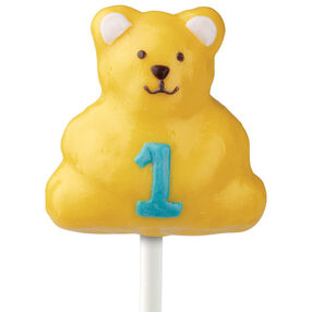 Number One Bear Cake on a Stick