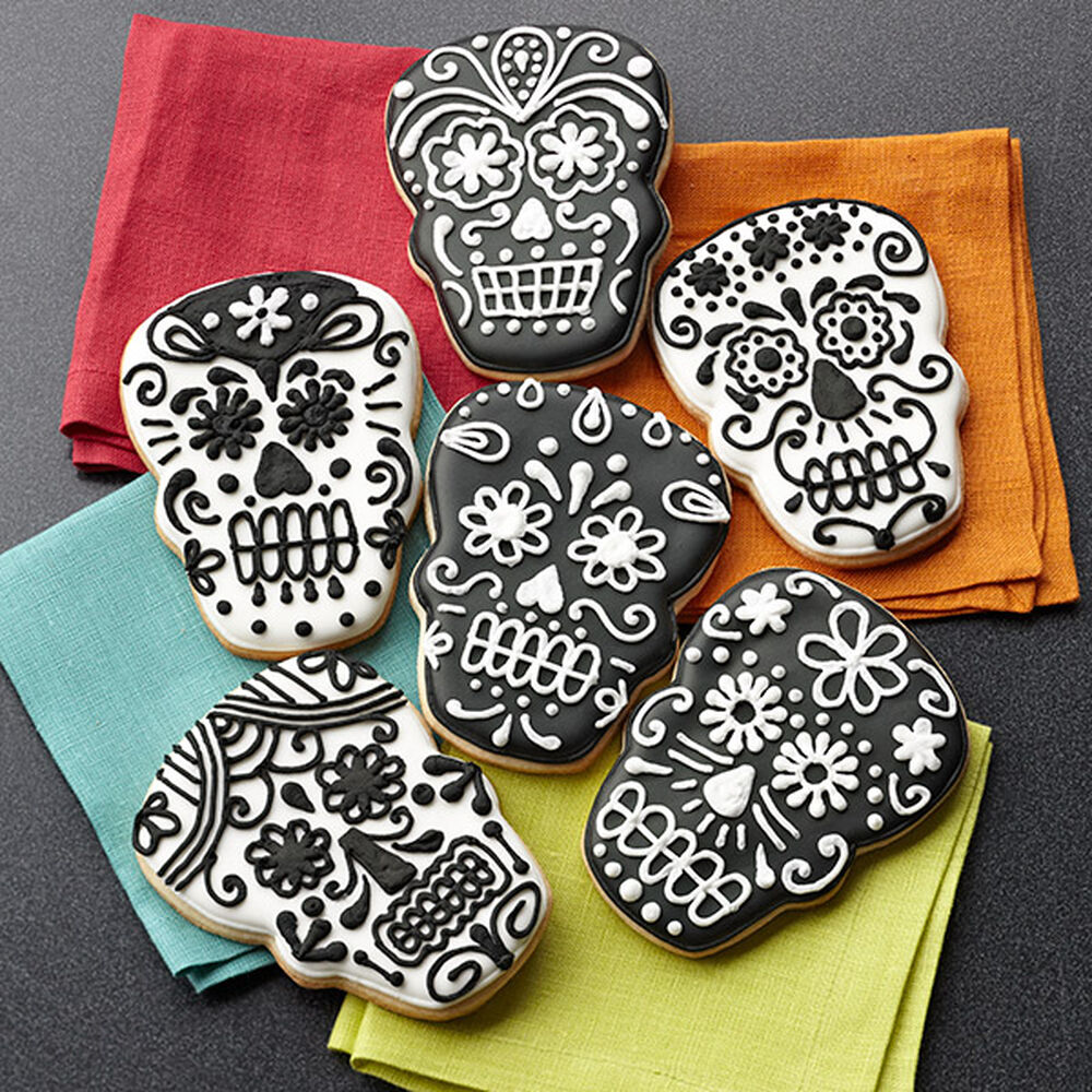Day Of The Dead Skull Cookies Wilton