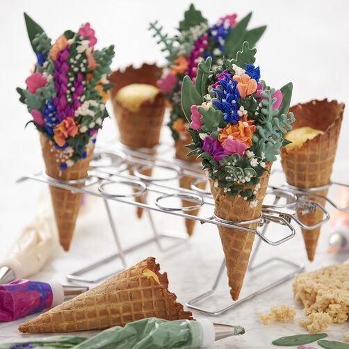 Spring Floral Cones
