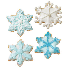 Warm Winter Snowflake Cookies