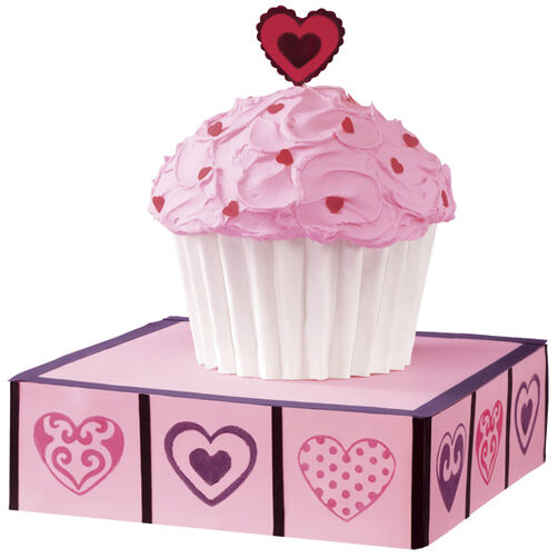 Supersize Valentine's Day Cupcake Cake