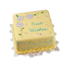 Best Wishes Squared Cake
