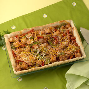 Chicken Fajita Rectangle Tart