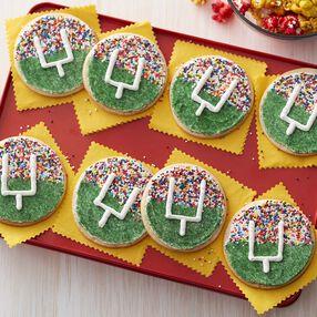 Wilton Football Field Goal Cookies