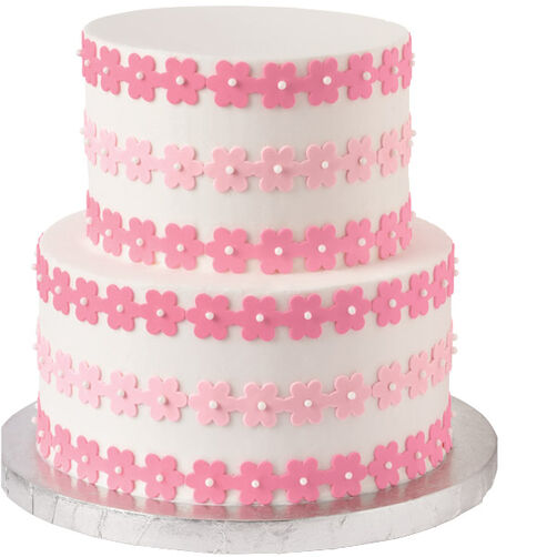 In-the-Pink Flower Cake