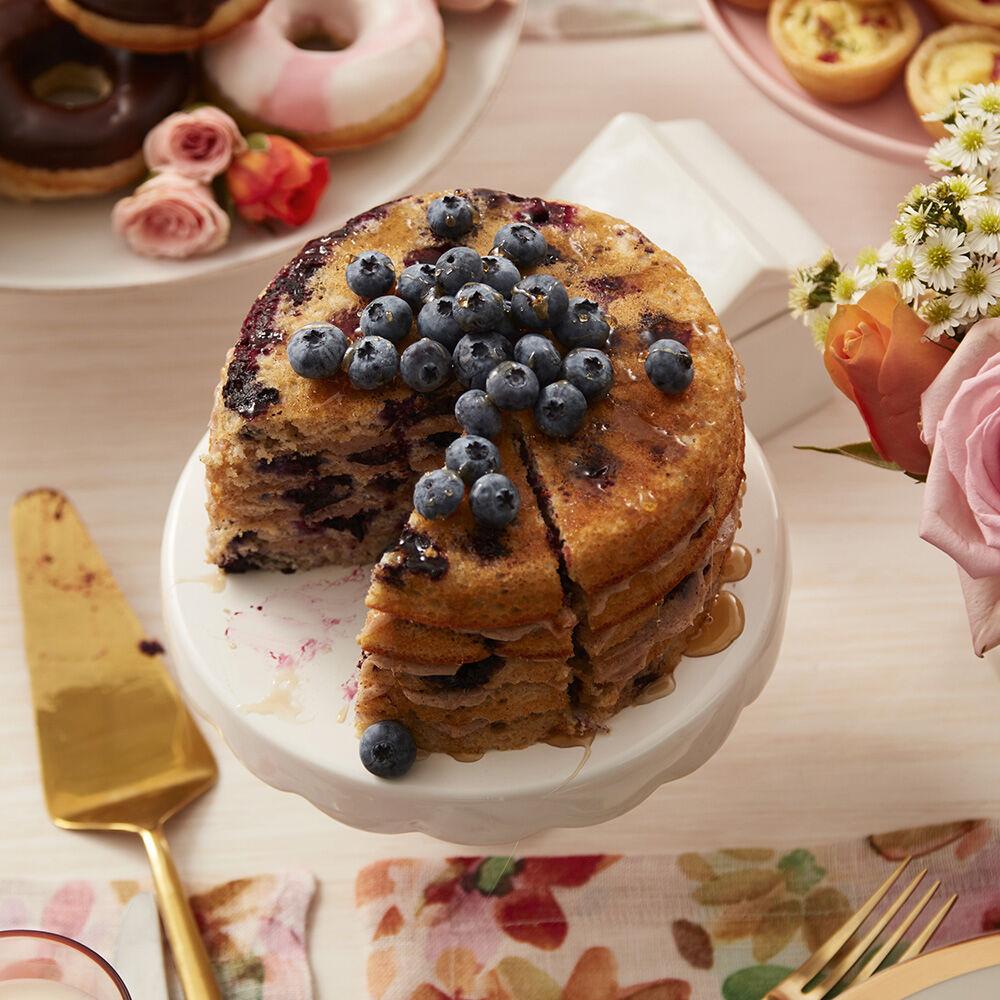 Stacks Amp Stacks O Blueberry Pancakes Cake Wilton