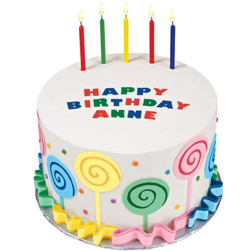 Lollipops and Ruffles Birthday Cake!