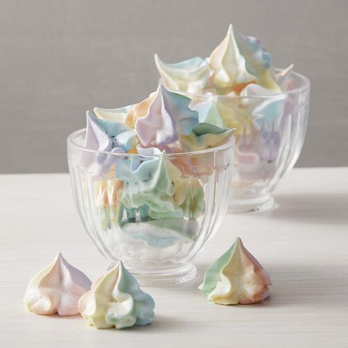 Colorful Kiss Meringue Cookies Wilton