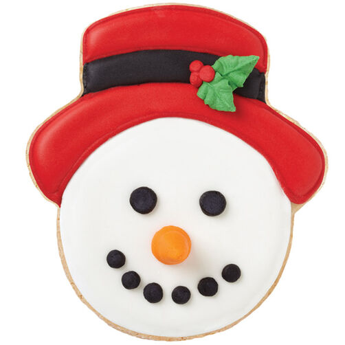 Holly Berry Snowman Cookies