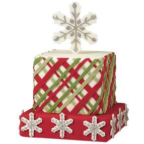 Plaid Tidings Christmas Cake
