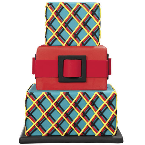 Plaid in Play Cake