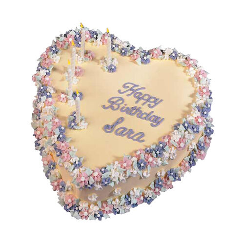 Hearts & Flowers Cake