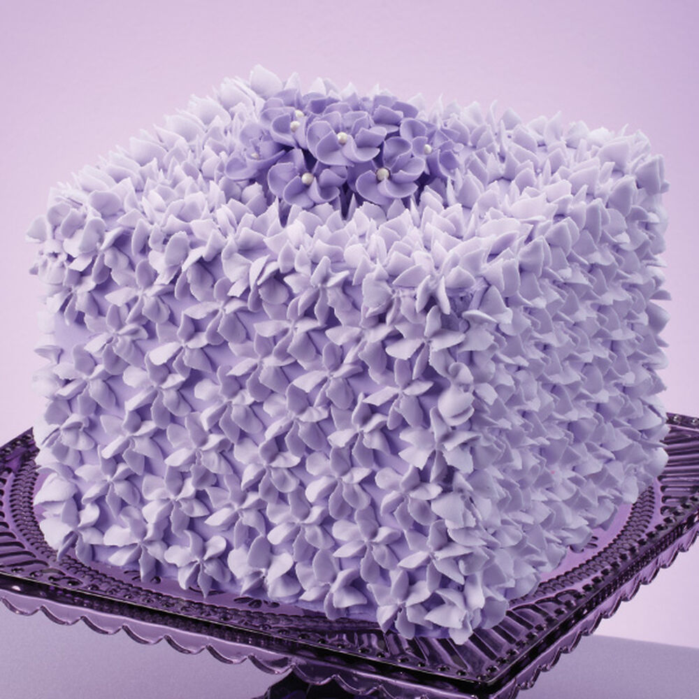 Violet Visions Square Cake | Wilton