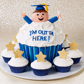 Ecstatic Graduate Cupcakes