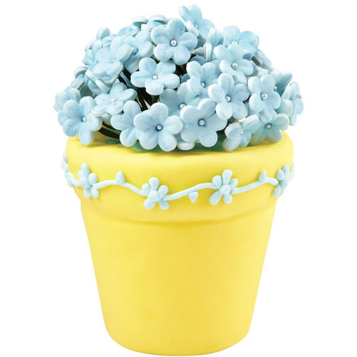 Bunch of Blue Blossoms Flower Pot Cake
