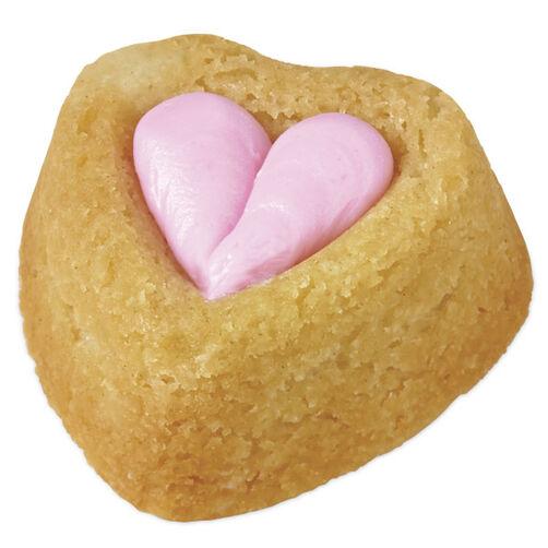 Rosy Hearts Mini Cakes