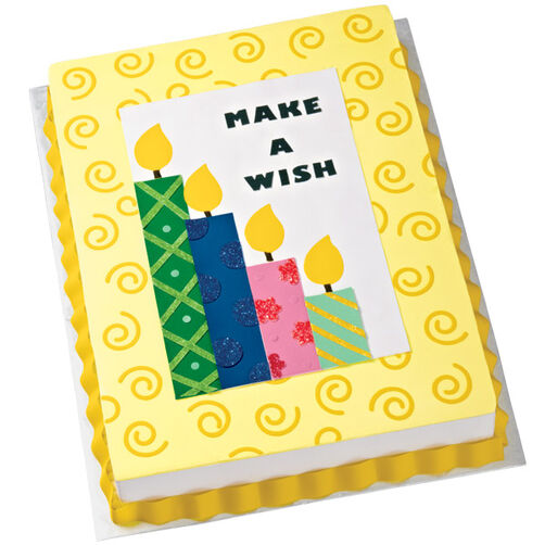 """Make a Wish"" Candle Cake"