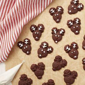 Reindeer Faces Spritz Cookies