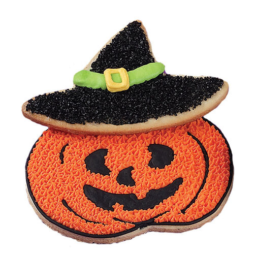 Wacky Witch Jack-O-Lantern Cookies