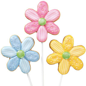 Dotted Daisies Cookie Pops