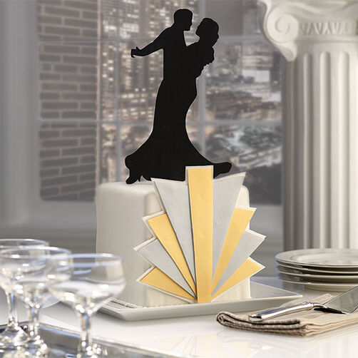 Art Deco Sheet Cake : Dancing in the Dark 1930s Fondant Cake Wilton