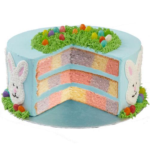 Easter Bunny Checkerboard Cake Wilton