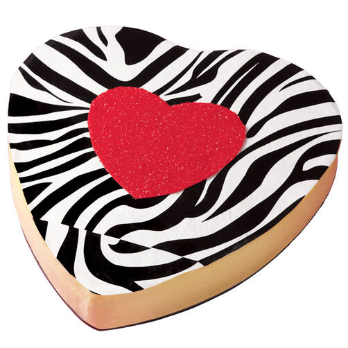Safari Striped Valentine's Day Cheesecake