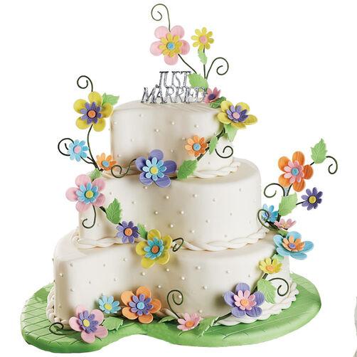 Cake Art Flower Moulding Paste Instructions : Bridal Path Cake Wilton