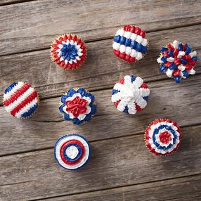 Wilton Patriotic Cupcakes with Tip 100