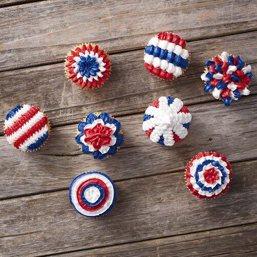 Wilton Patriotic Cupcakes with Tip 100