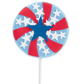 Patriotic Pinwheel Cookie Pop