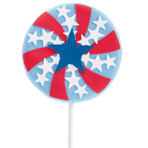 Patriotic Pinwheel Cookie Pop