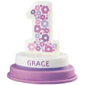 Flower Filled First Birthday Cake
