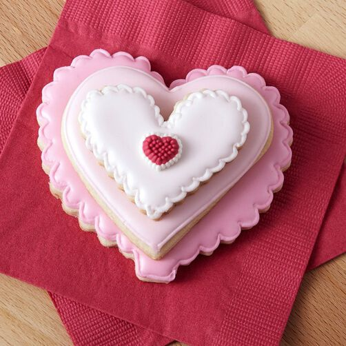 Stackable Ombre Heart Cookies