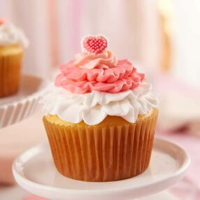 All Ruffled Up Valentine's Day Cupcakes