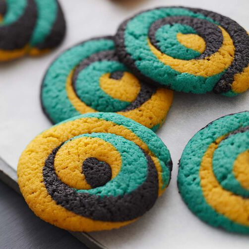 Wilton Color Swirl Tailgate Cookies
