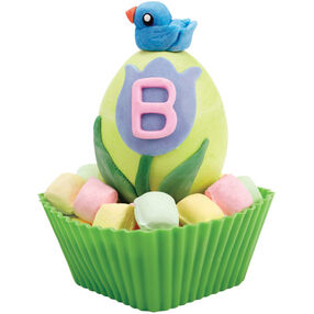 Blue Bird Topped Easter Egg