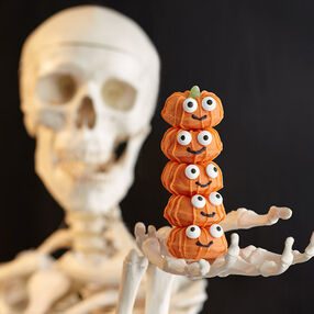 Stacked Jack-O-Lanterns Mini Doughnuts