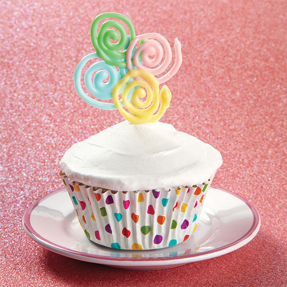 Sweet Spirals Candy Topper Cupcakes Wilton