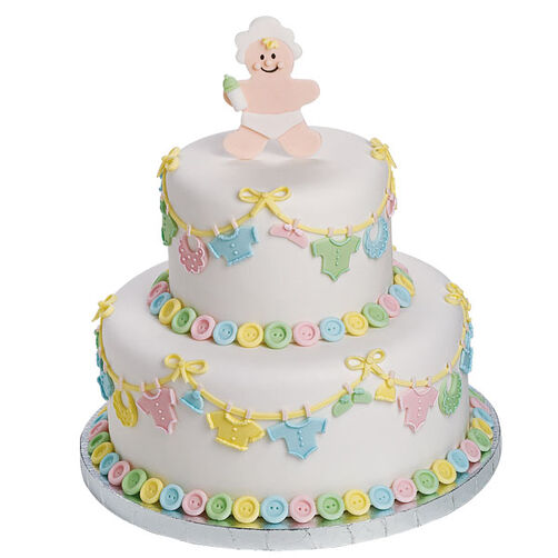Layette On ?Em! Cake