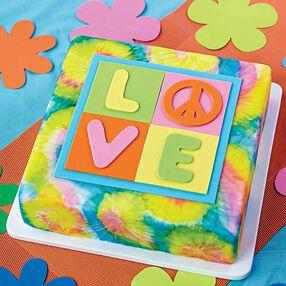 1960s Tye Dye Cake