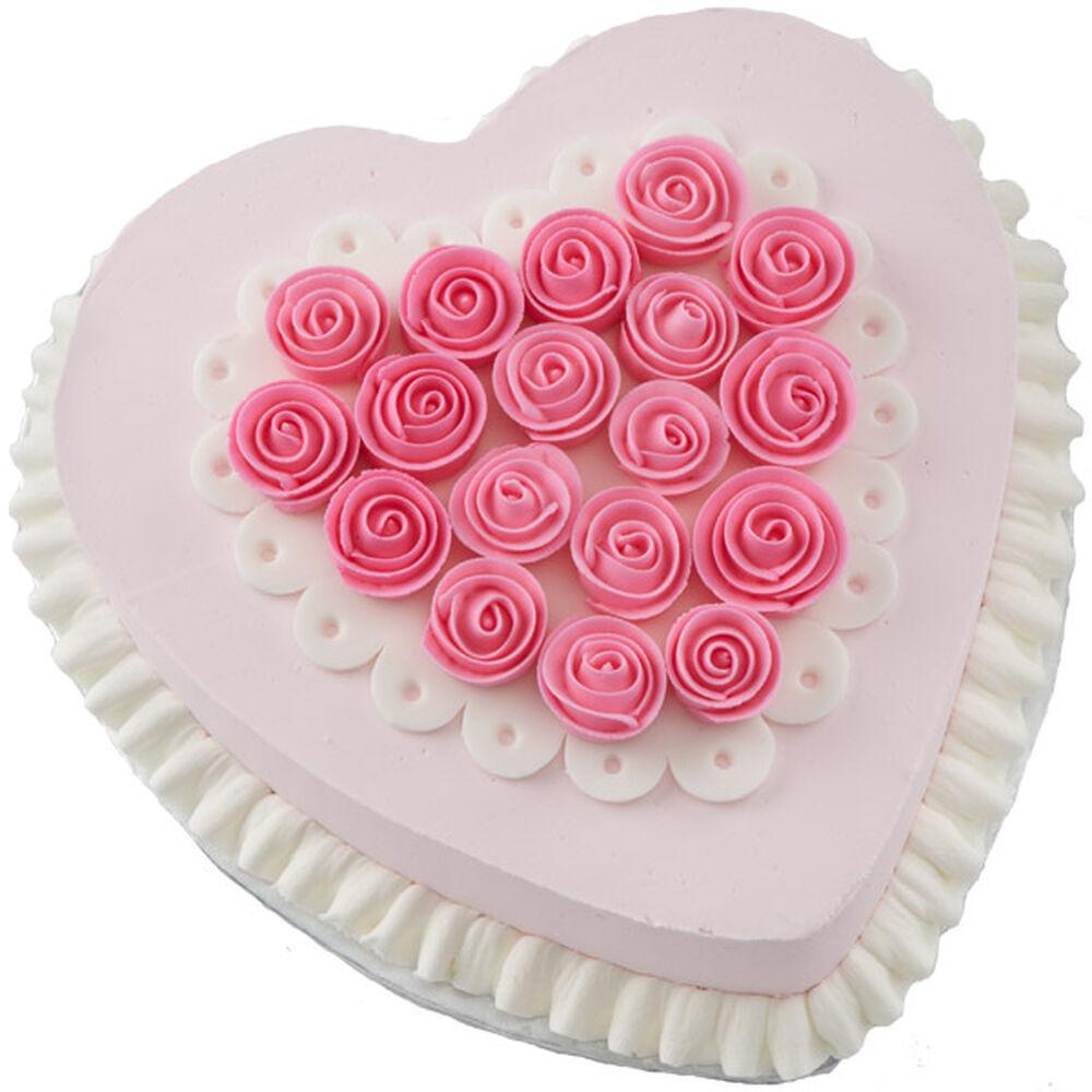 Ribbon Rose Heart Cake Wilton
