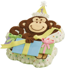Gift-Wrapping Monkey Cake