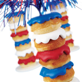 Stacked Sparkler Mini Doughnuts